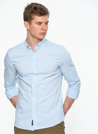 Mavi Gömlek   Dar Kalıp Mavi